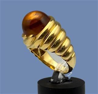 22k Modernist Citrine Ring
