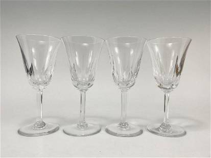 4 St Louis Crystal Goblets
