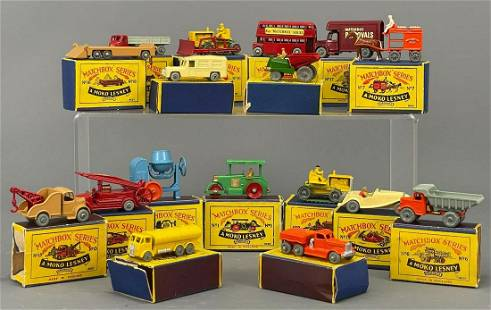 17 Moko Lesney Matchbox Cars