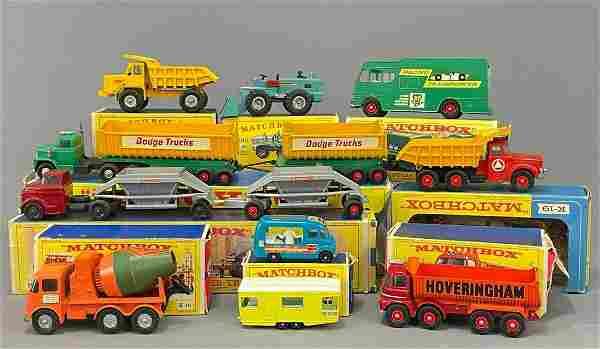10 Lesney Matchbox Cars
