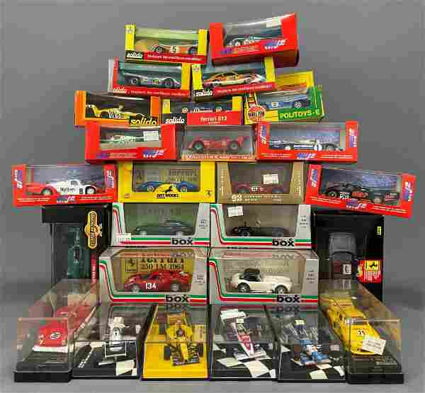 26 Model Cars by Solido, Polityos, Artmodel, and Others