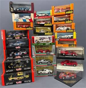 23 Model Cars by: Solido, Quartzo, Box-Model, Eagle