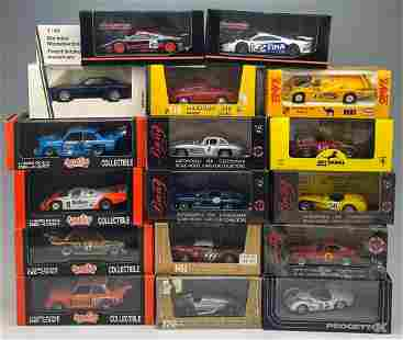 20 Diecast Model Cars 1/43, by Quartzo, Onyx, Bang, and