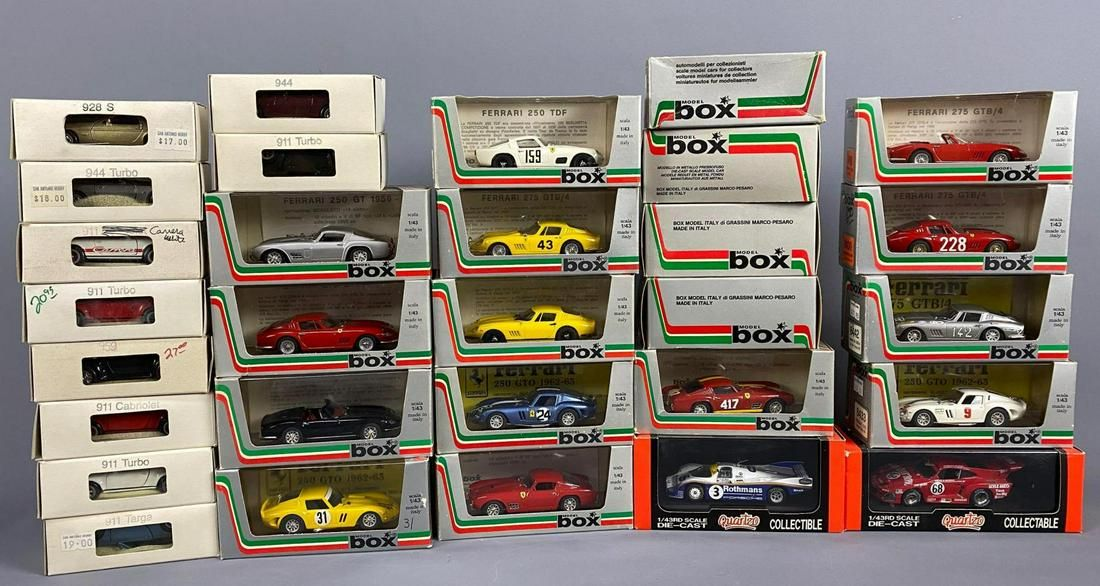 30 Model Cars by Quartzo, Solido, and Vitesse