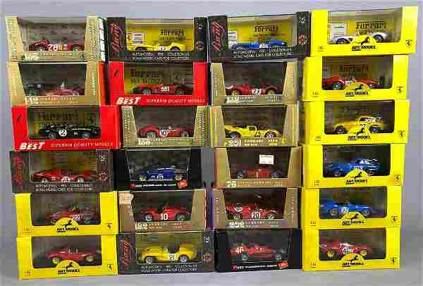 24 Model Cars by Brumm, Model Best, Bang, and Others
