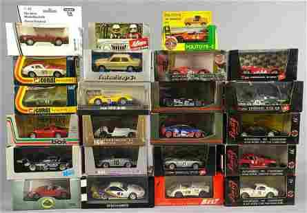 22 Model Cars by Schabak, Corgi, Oxford, Solido, and