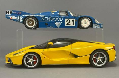 2 Diecast Model Cars by Minichamps and Hotwheels