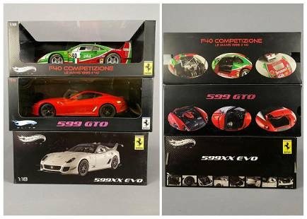3 Hot Wheels Elite Diecast Model Cars