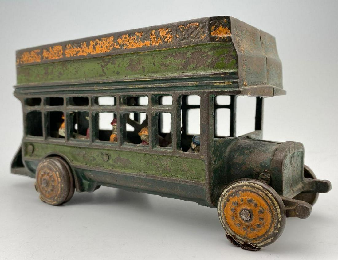 Freidag Cast Iron Double Decker Bus Toy