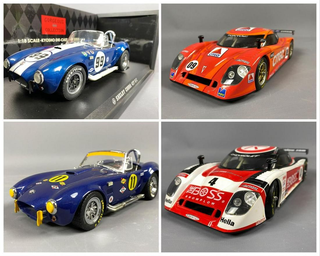 4 Diecast Model Cars Kyosho And Action Racing