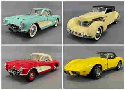 4 Franklin Mint Model Cars