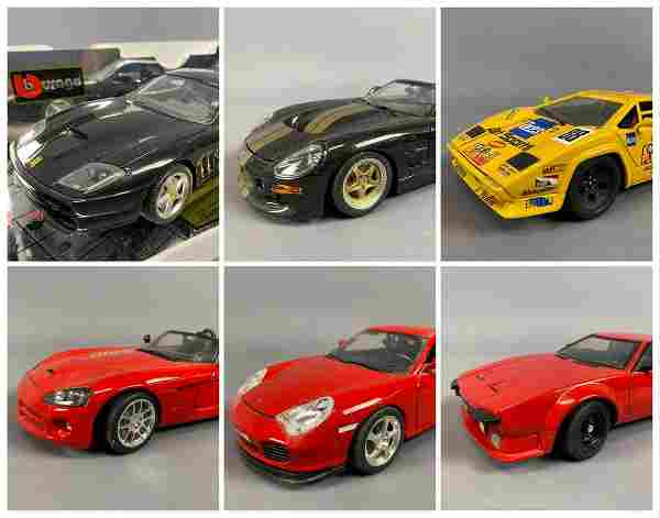 6 Diecast Model Cars Burago And Hot Wheels