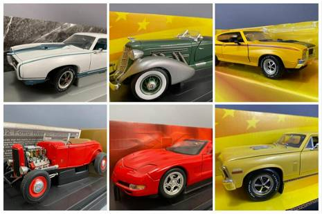 6 Ertl Collectables Diecast Model Cars