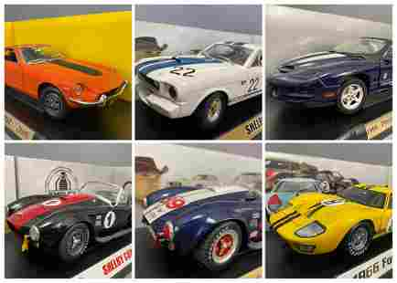 6 Diecast Model Cars Shelby Collectables And Road