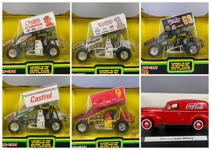 6 Diecast Model Cars 1:25 Scale