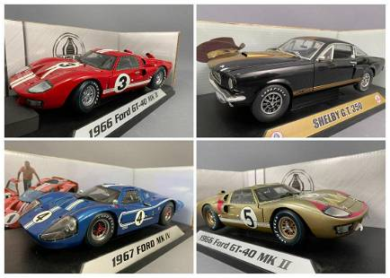 4 Shelby Collectables Diecast Model Cars