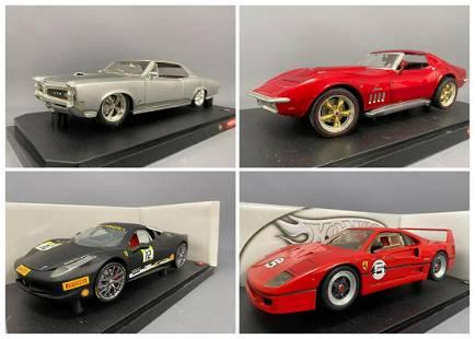 4 Hot Wheels Diecast Model Cars