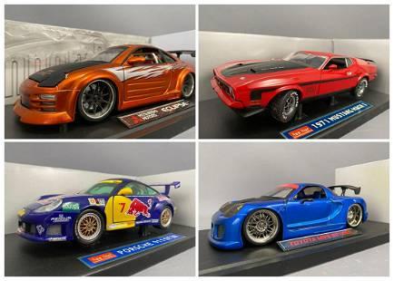 4 Diecast Model Cars Sun Star And Import Racer