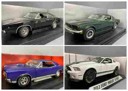 4 Diecast Model Cars Ertl Collectables And Shelby