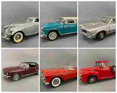 6 Diecast Danbury Mint Model Cars