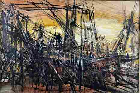 Rubi Roth Mid Century Brutalist Watercolor