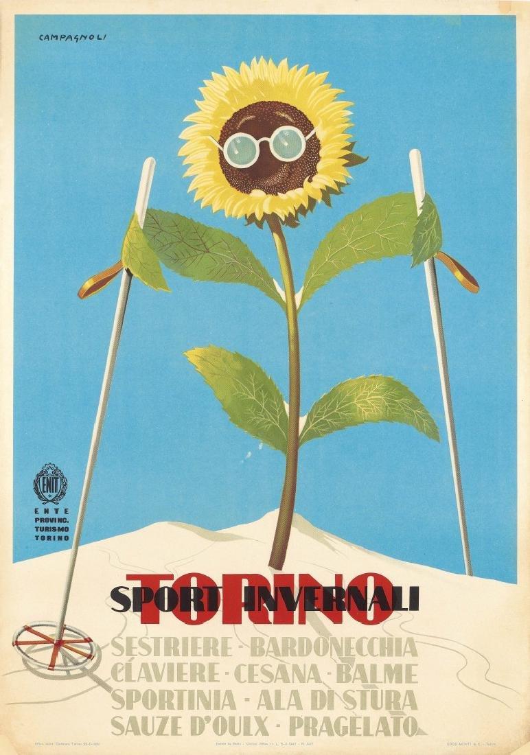 ADALBERTO CAMPAGNOLI   1905-1983 Torino Sport Invernali