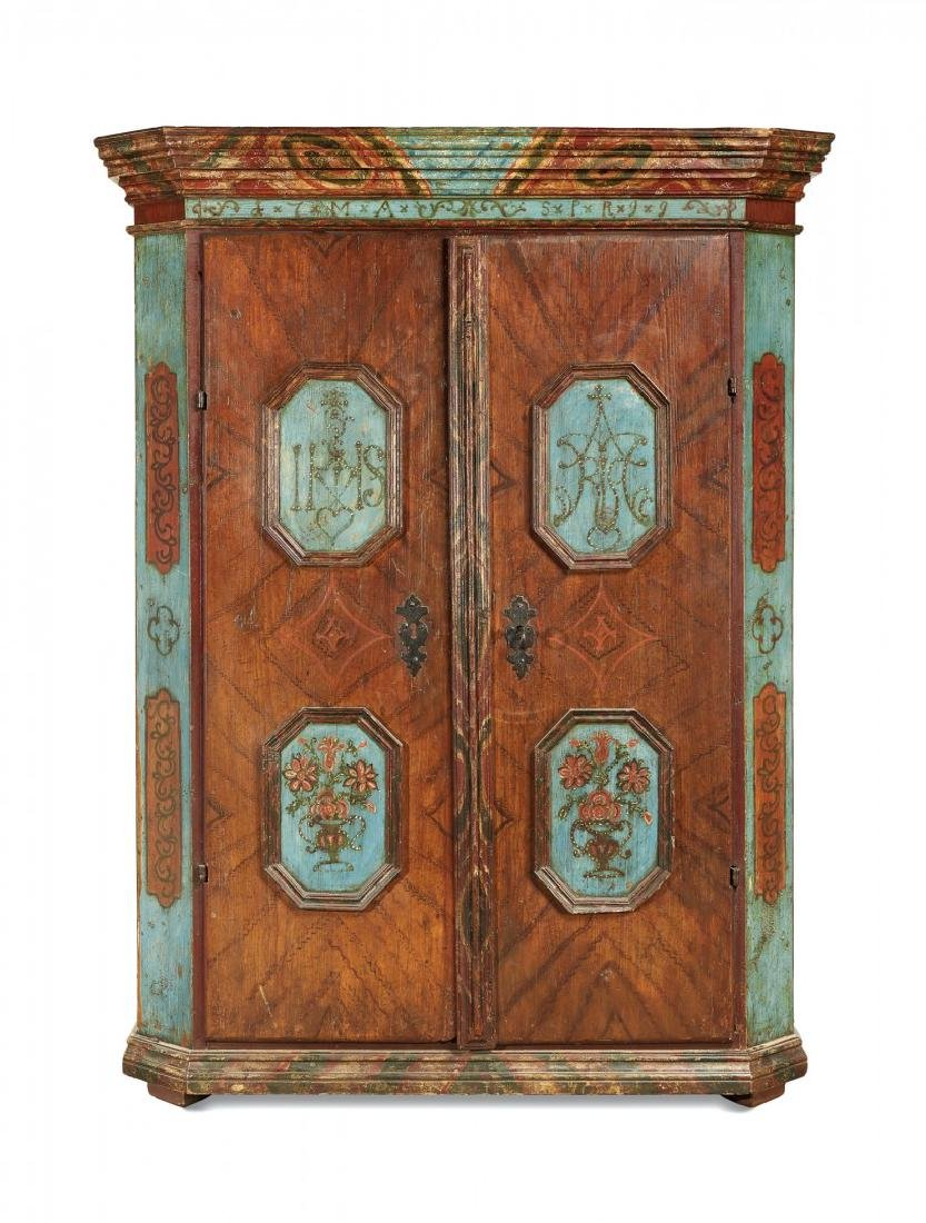 Two doors rustic cabinet  End of 18th Century