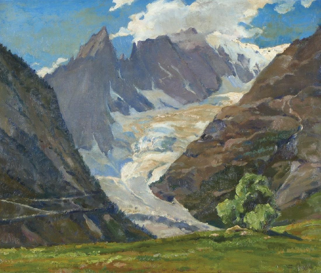 CARLO MUSSO   1907-1968 Il Monte Bianco