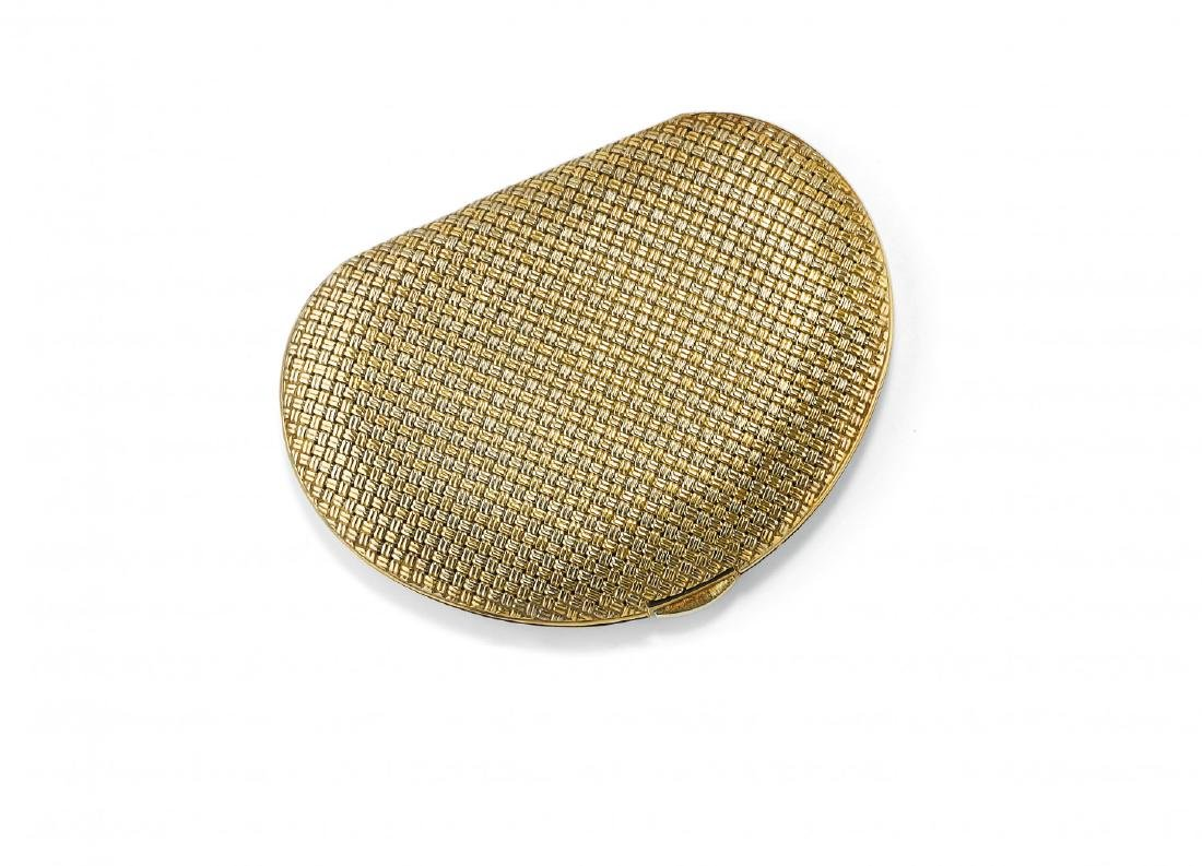 TWO TONE  POWDER GOLD COMPACT