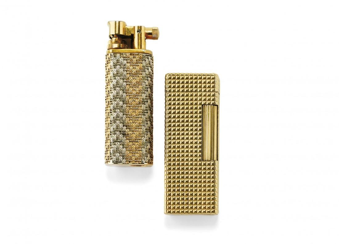 TWO GOLD COATED LIGHTERS