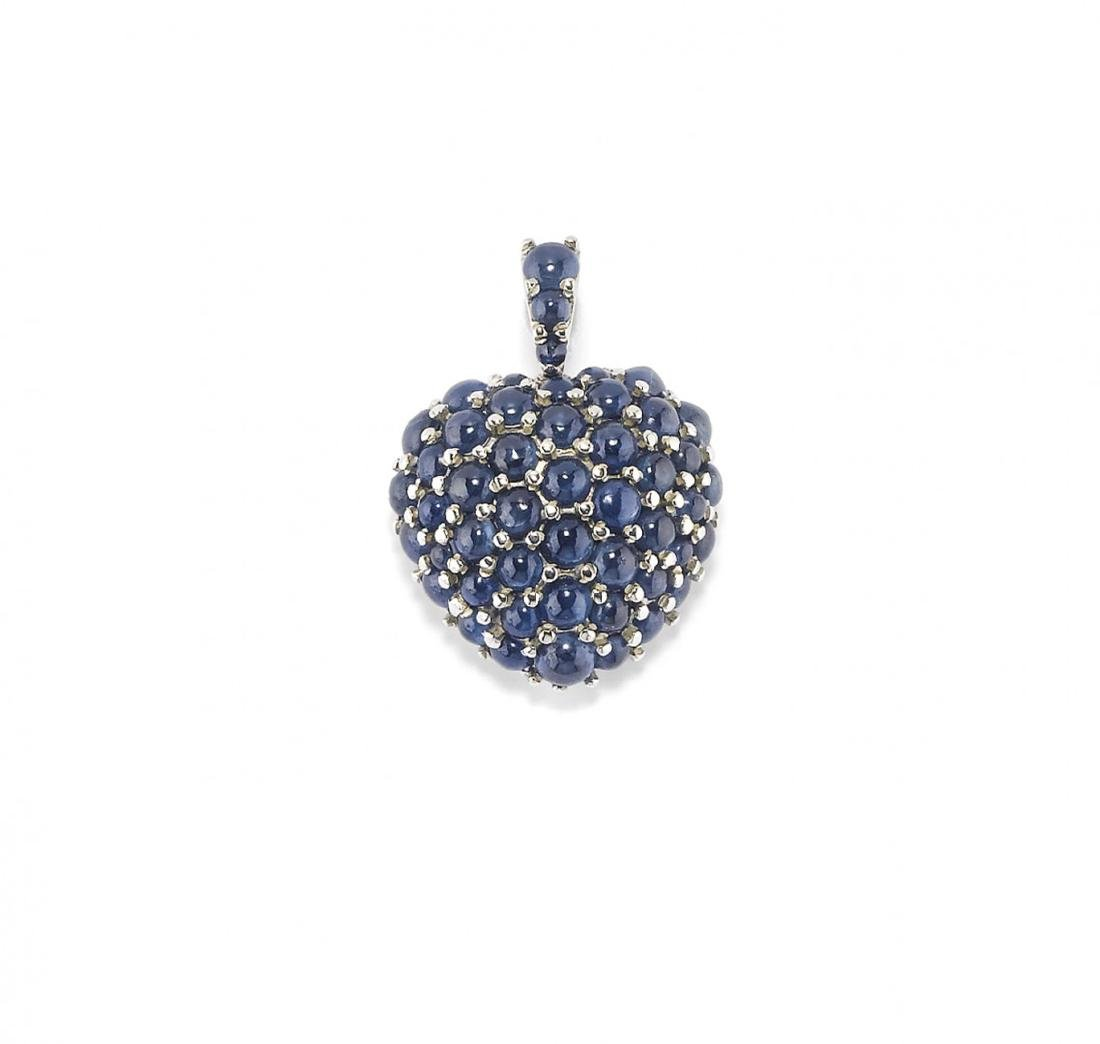 GOLD AND BLUE SAPPHIRE PENDANT