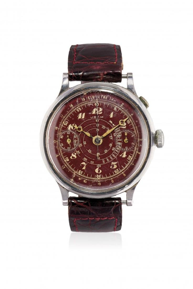 MEN'S WRISTWATCH SIGNED ORAM MONOPUSHER CHRONOGRAPH,