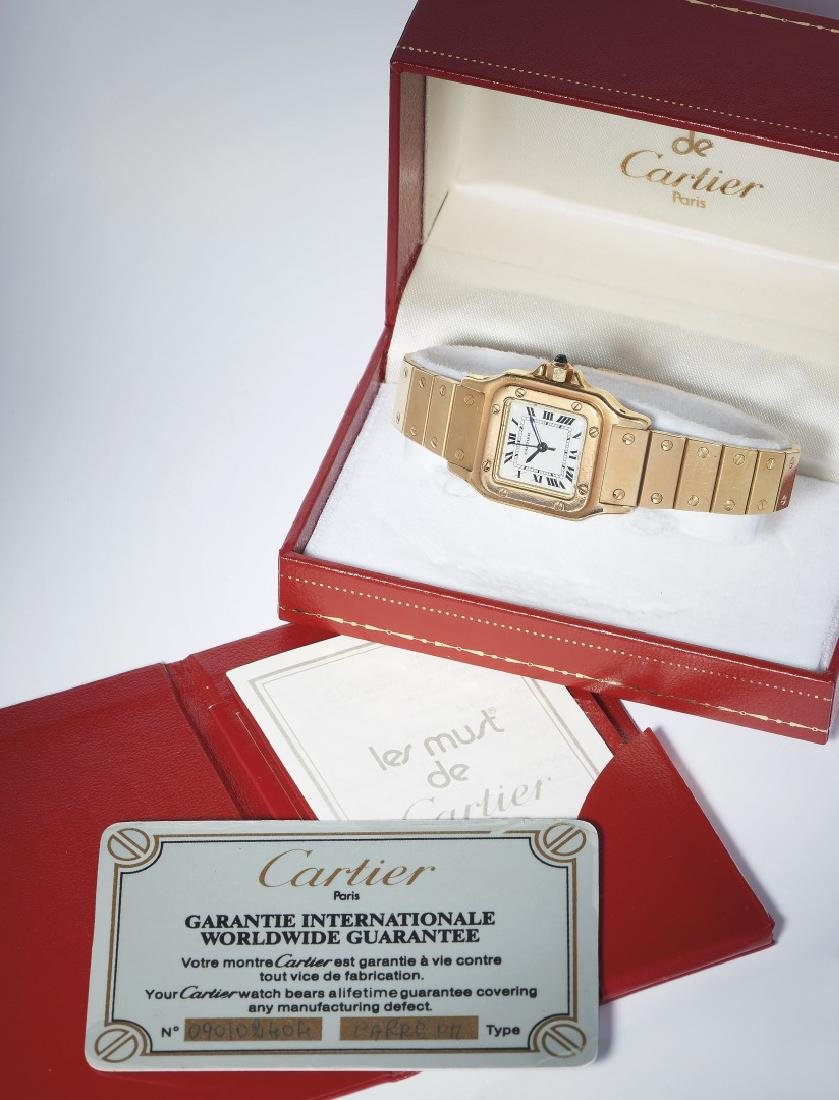 LADIES GOLD WRISTWATCH CARTIER SANTOS, '90S