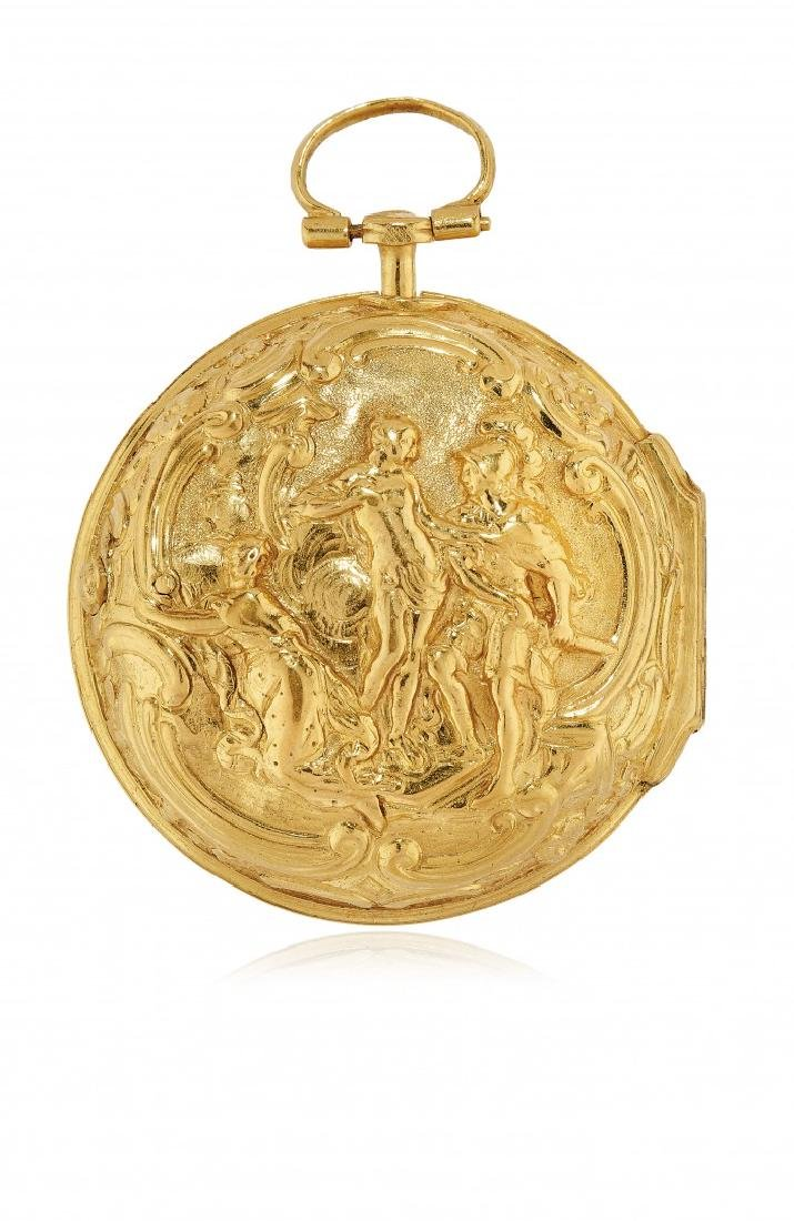 ENGLISH PAIR-CASED REPOUSSÉ POCKET WATCH, SIGNED