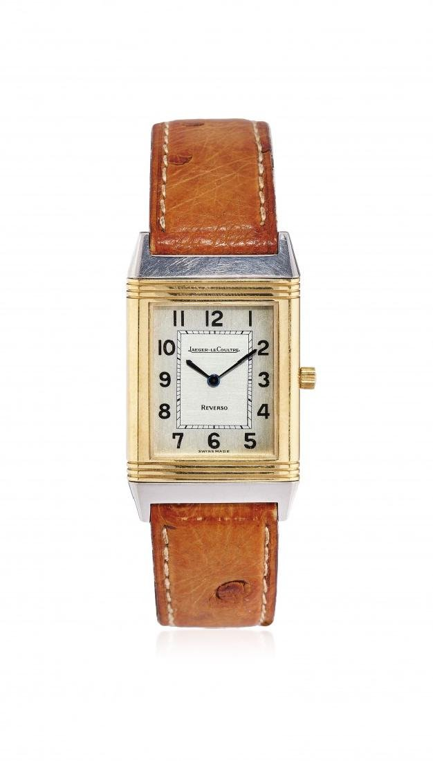 STEEL AND GOLD WRISTWATCH JAEGER-LECOULTRE REVERSO