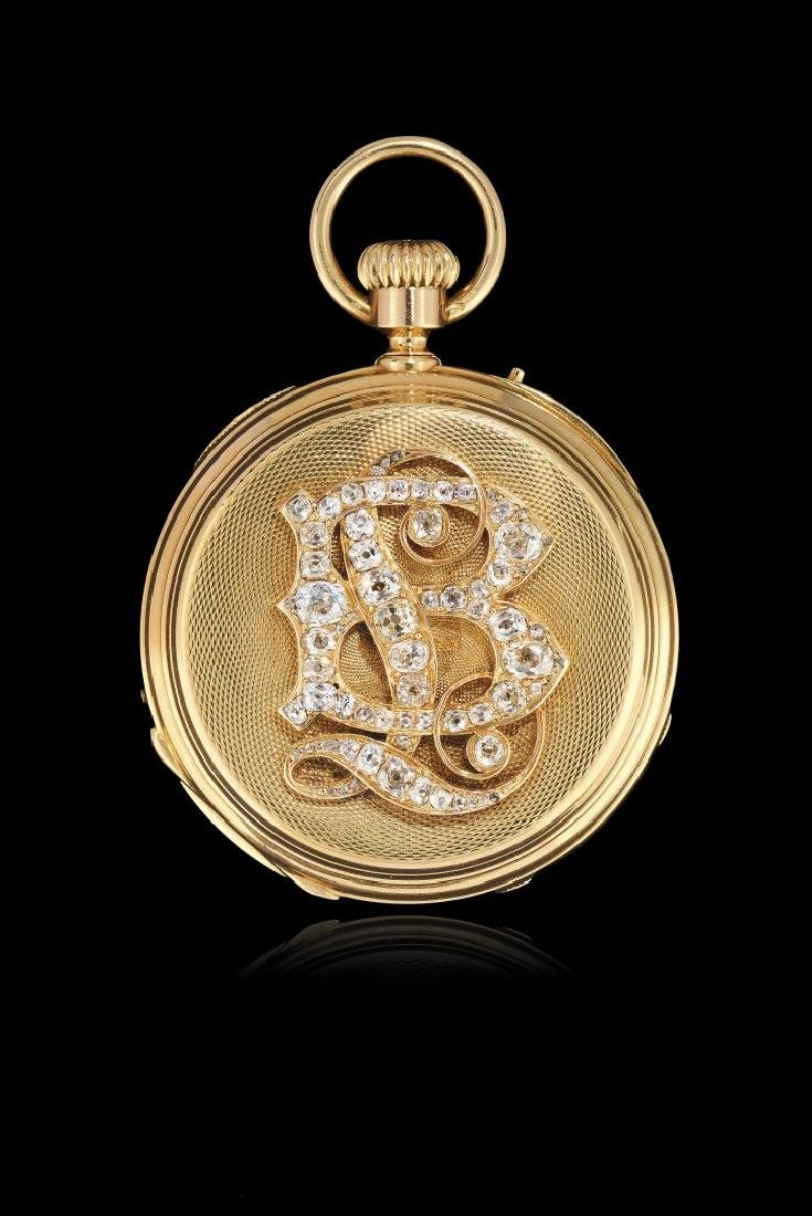 RARE SWISS GOLD POCKET WATCH WITH FULL CALENDAR,