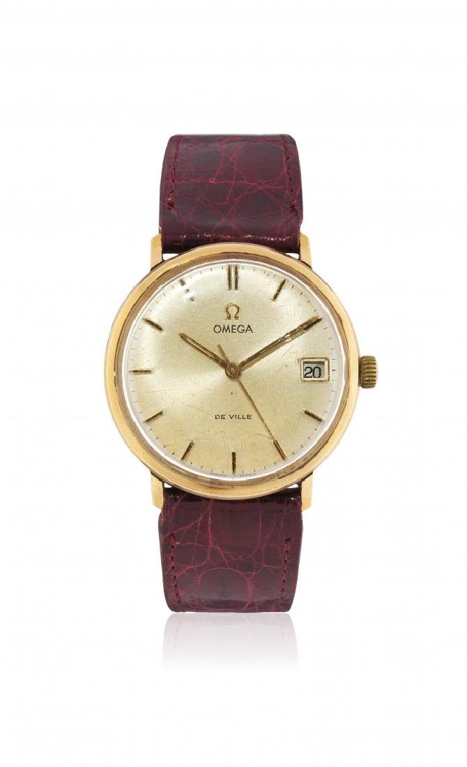 MEN'S GOLD OMEGA WRISTWATCH, 50s