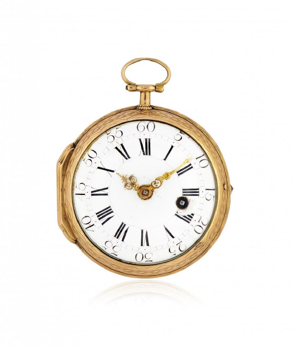 ROSE GOLD POCKET WATCH SIGNED MELLY, LOUIS XVI