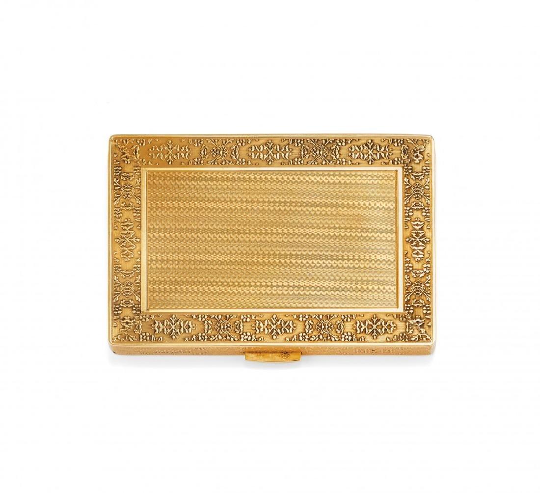 Yellow gold CIGARETTE CASE