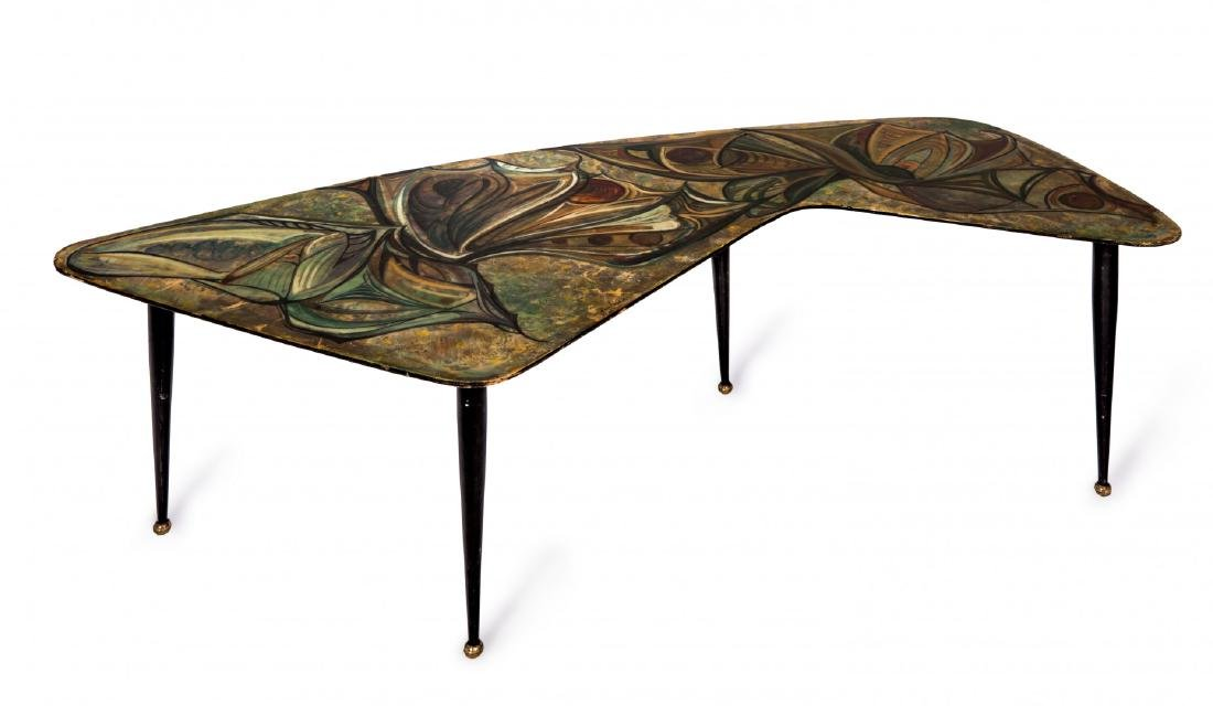 GRUPPO DECALAGE COFFEE TABLE WITH ABSTRACT MOTIF 1956