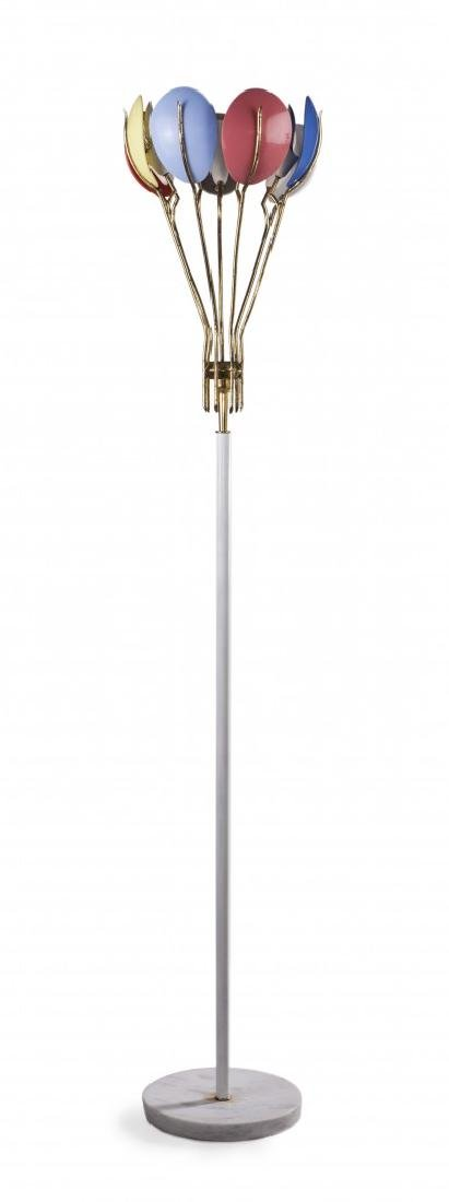 ANGELO LELII 1911-1979 FLOOR LAMP FOR ARREDOLUCE