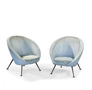 ICO PARISI 1916-1996 Two '813' armchairs for Cassina