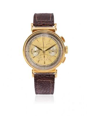 GOLD LONGINES FLY-BACK CHRONOGRAPH 13ZN REF. 3901,
