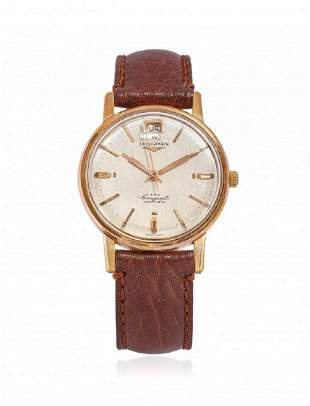 ROSE GOLD LONGINES CONQUEST AUTOMATIC, CIRCA 1961