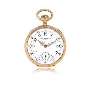 GOLD PATEK PHILIPPE PENDANT WATCH RETAILED BY