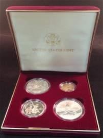 1995 Four Coin Proof Set W/COA