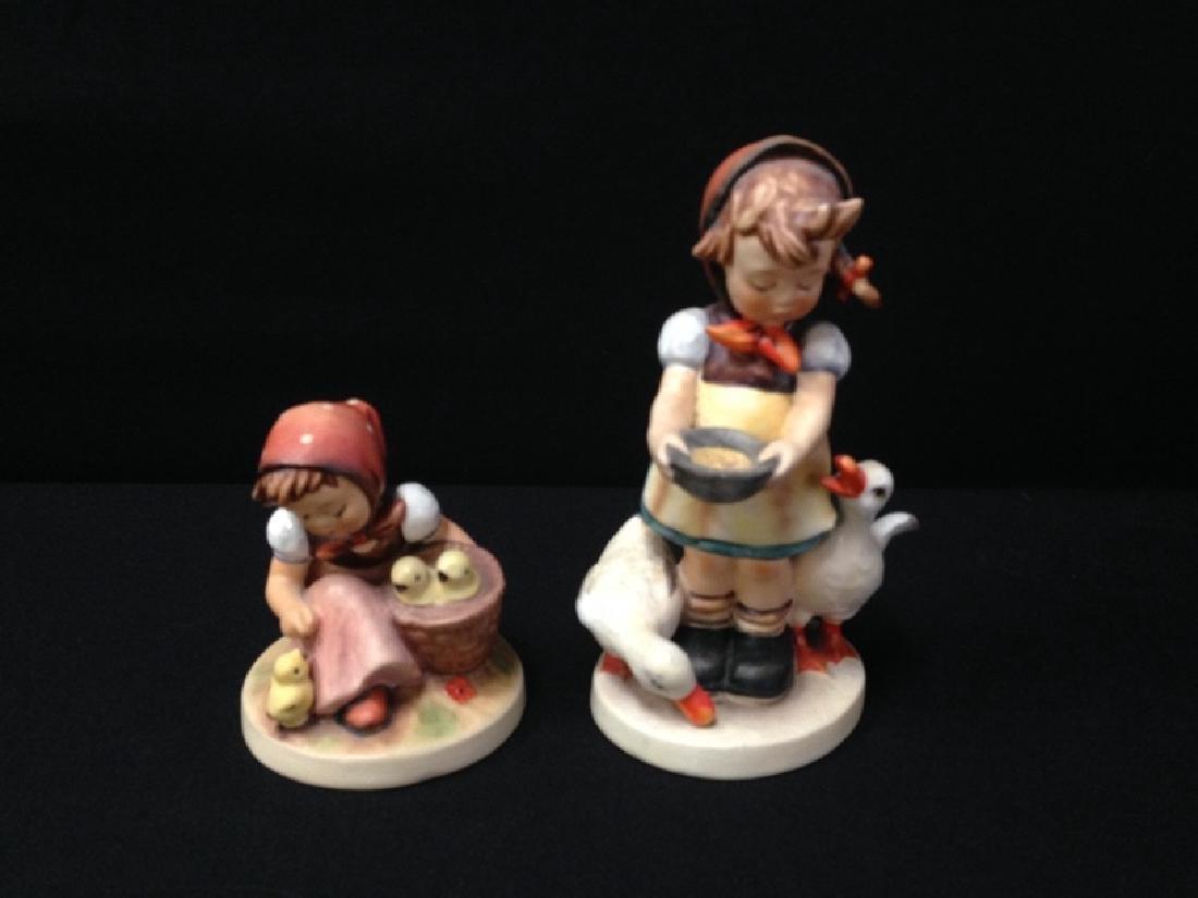 (2) Hummel Figurines 'BE PATIENT' & 'CHICK GIRL'.
