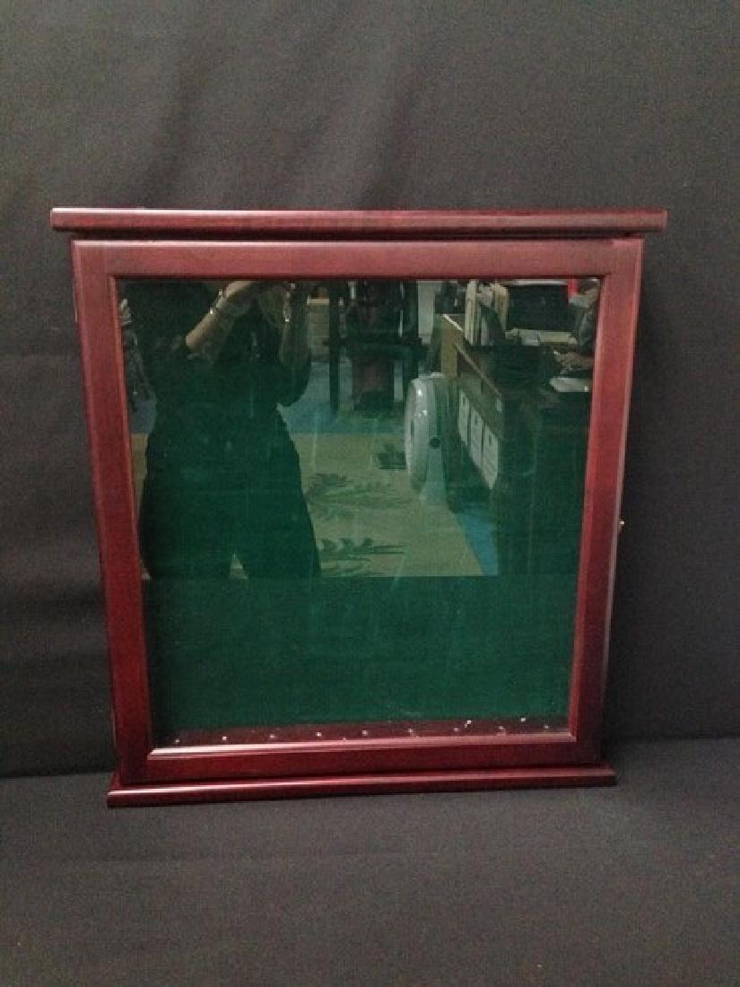 Vintage Wood Framed Display Case.