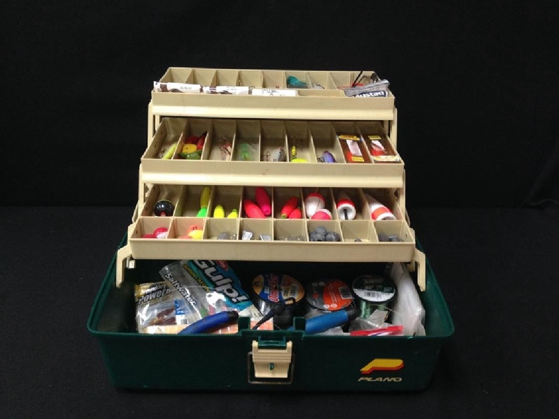 Packed!!! Vintage Tackle Box.