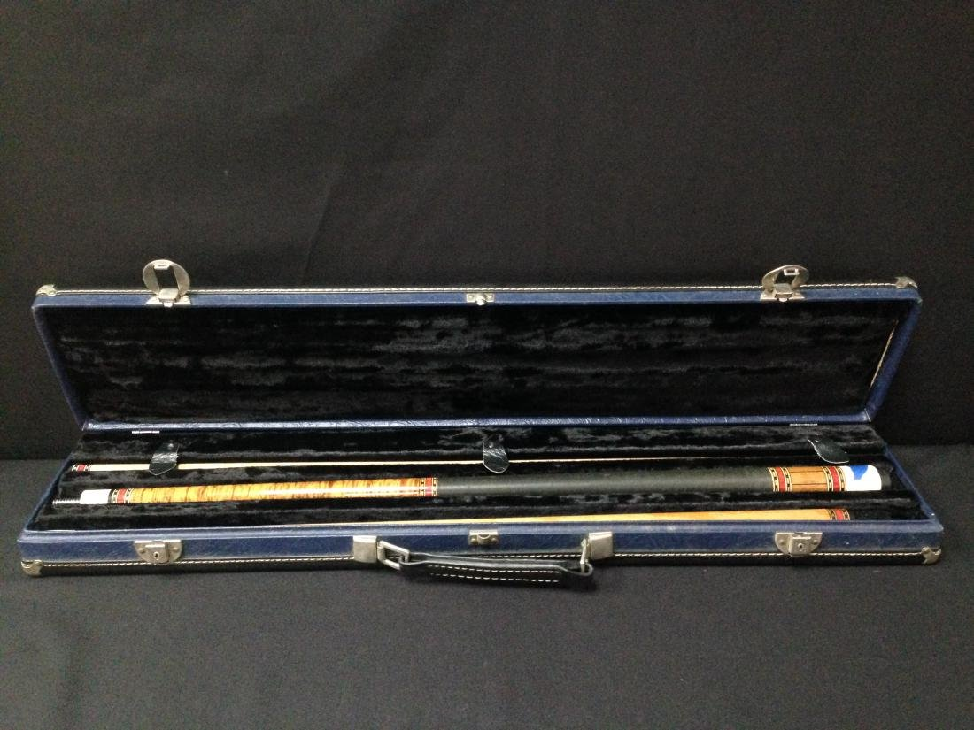Vintage McDermott Pool Cue in Case.
